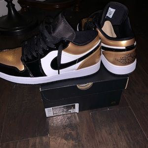 "Air Jordan Retro 1 Low "" Gold Toe """